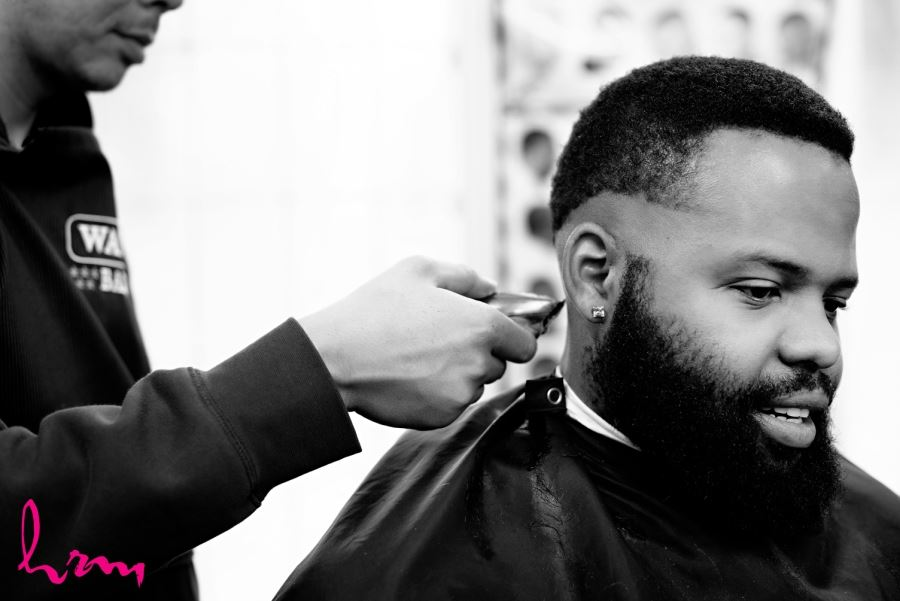 groom at barbers