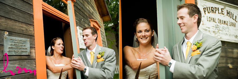 london ontario bride and groom first look