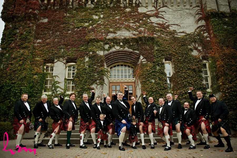 men in kilts at the old court house in london ontario