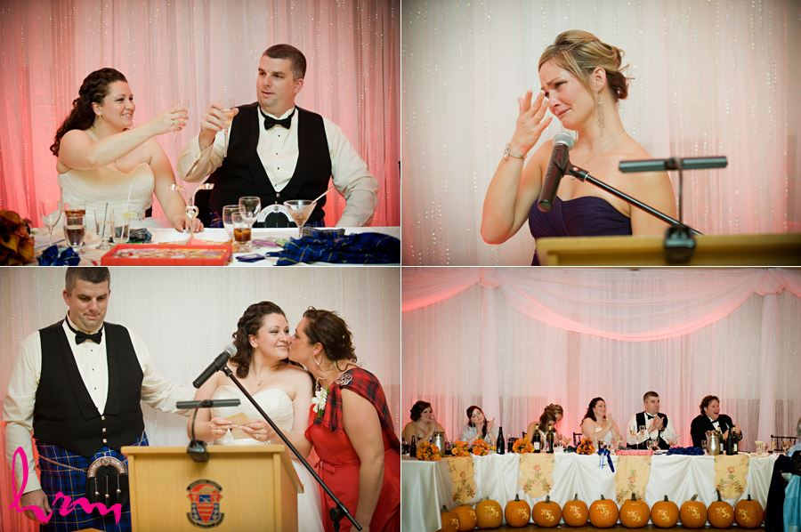 bridesmaid giving a heartfelt speech