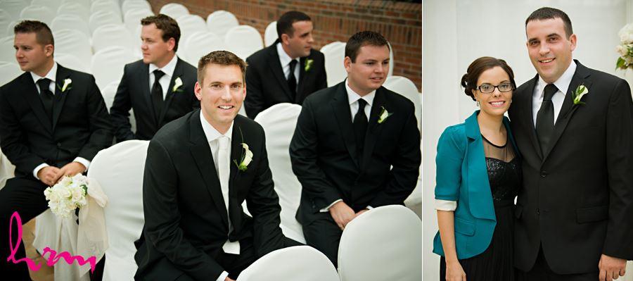 groom and groomsmen before ceremony