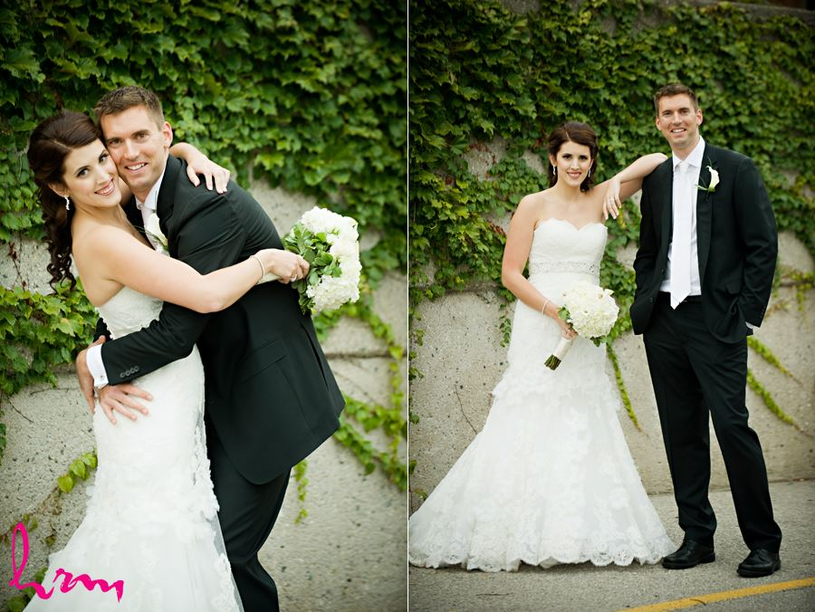 bride and groom portrait outside in london at the old courthouse