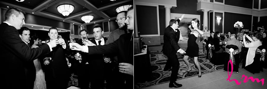 groomsmen cheers before reception