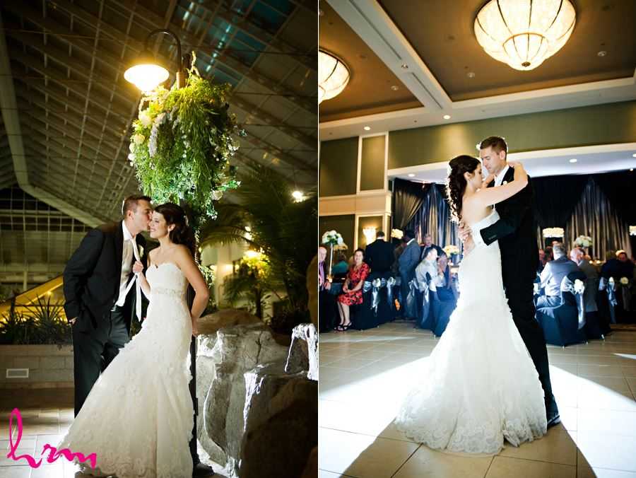 bride and groom speeches at reception in the best western lamplighter inn