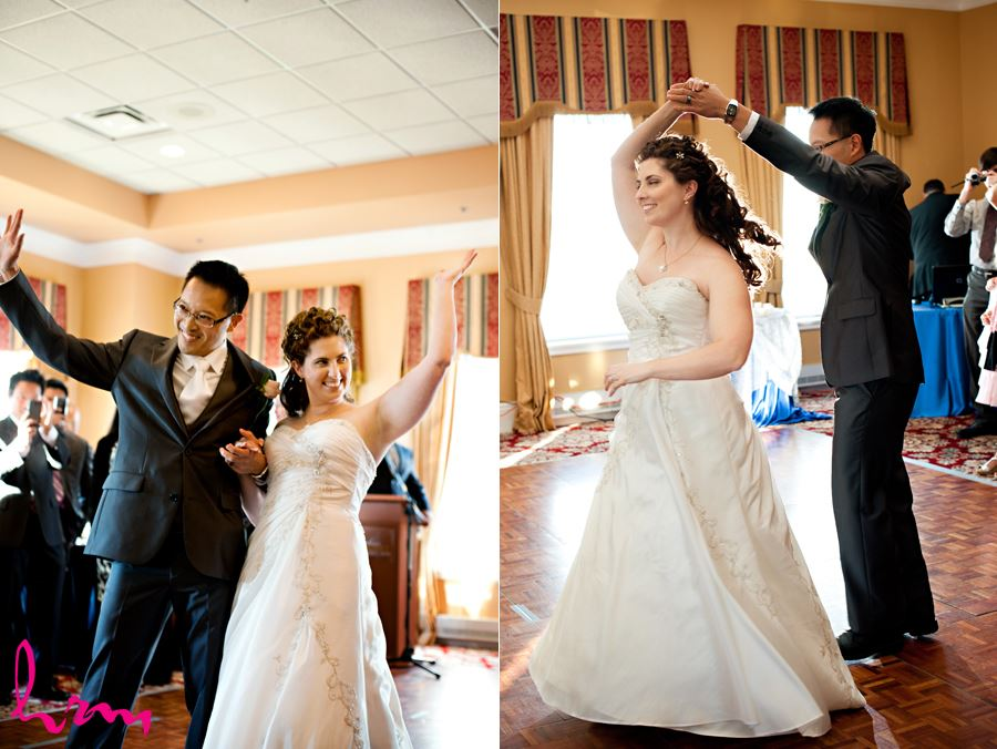 bridal entrance with first dance in the reception