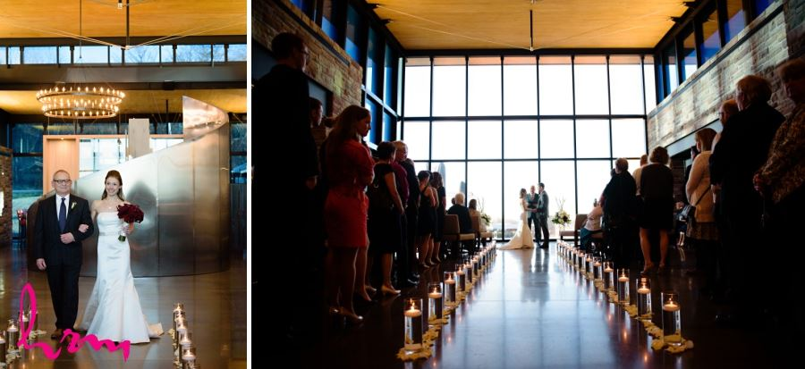 Redstone Winery Beamsville Ontario wedding ceremony