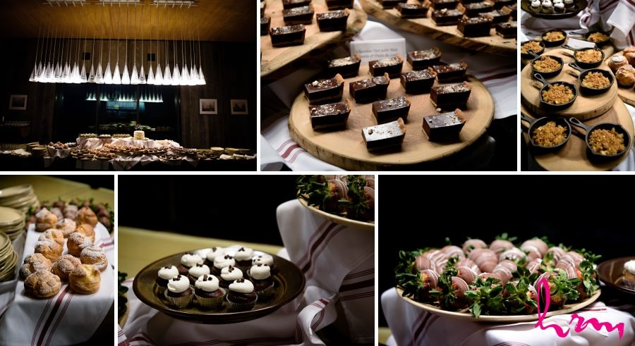 wedding reception large sweets table