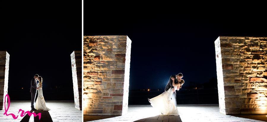 Redstone Winery nighttime photo wedding reception