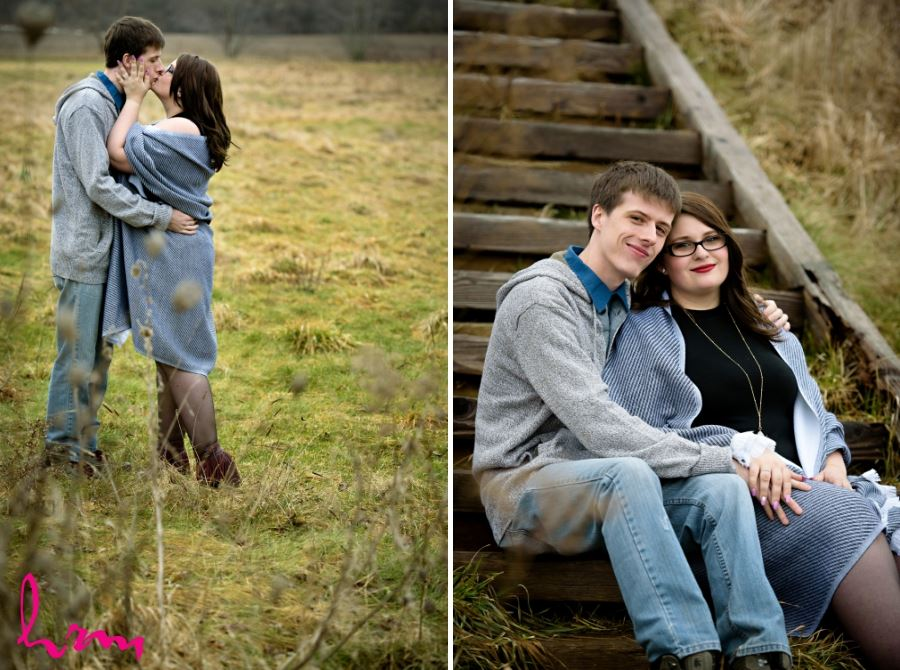 Engagement session Bellamere Winery winter