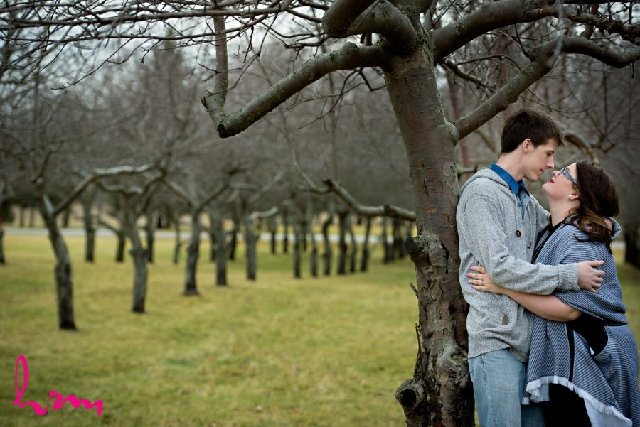 Bellamere Winery London Ontario outdoor engagement session