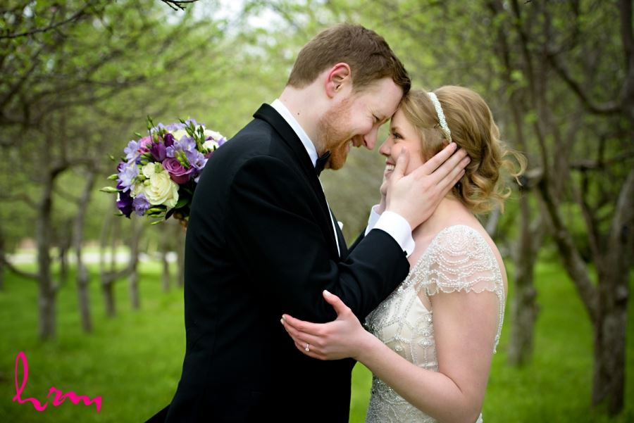 Spring wedding closeup