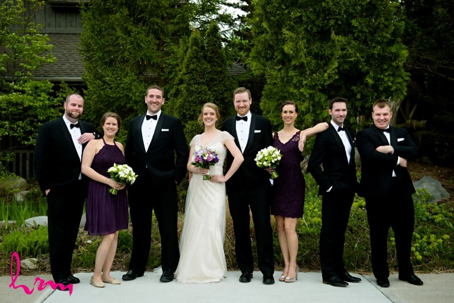 wedding party deep plum bridesmaids dresses