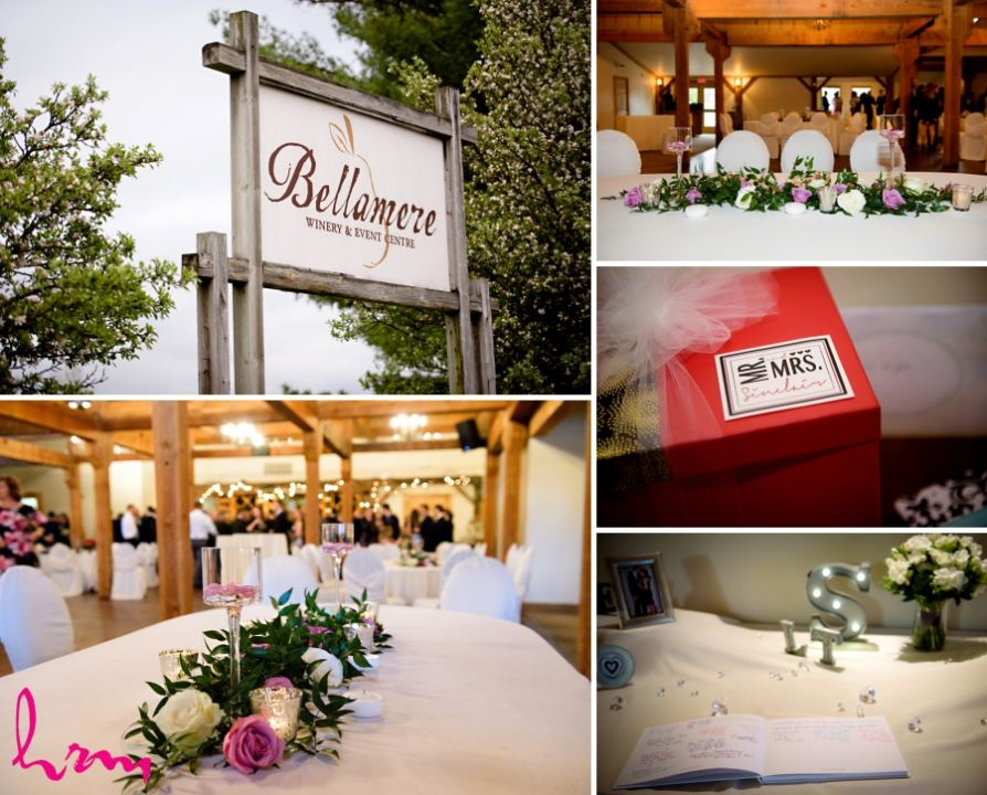 bellamere winery centrepieces and details