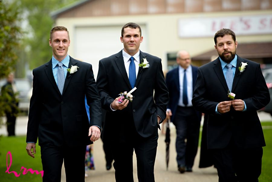 groomsmen blue gingham shirts