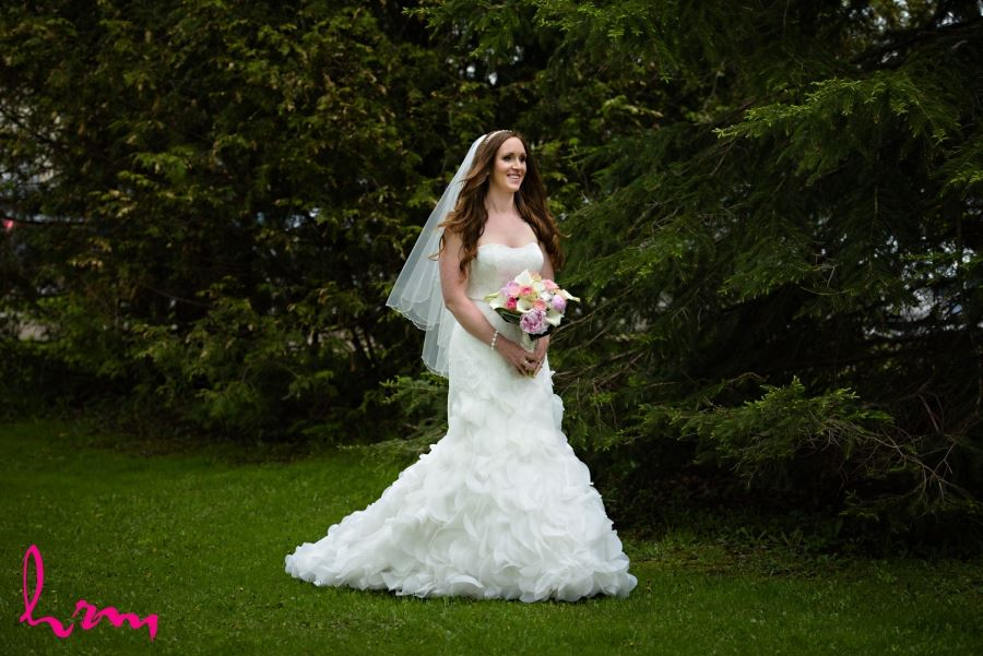 bride walking down aisle alone
