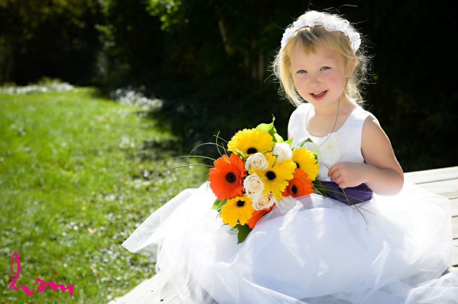flower girl outside