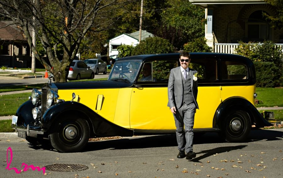 groom with car