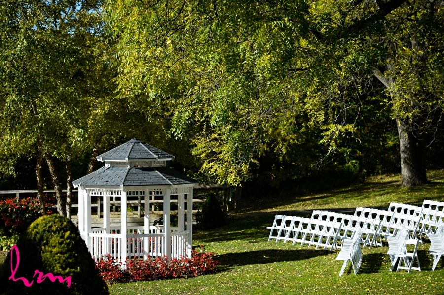 civic garden outdoor wedding ceremony