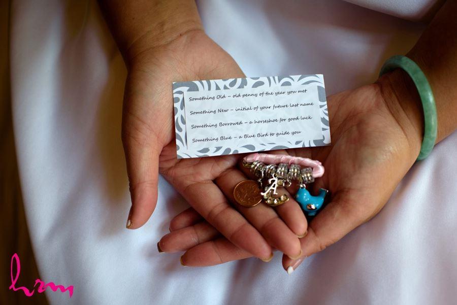 Something old something new charm bracelet wedding day