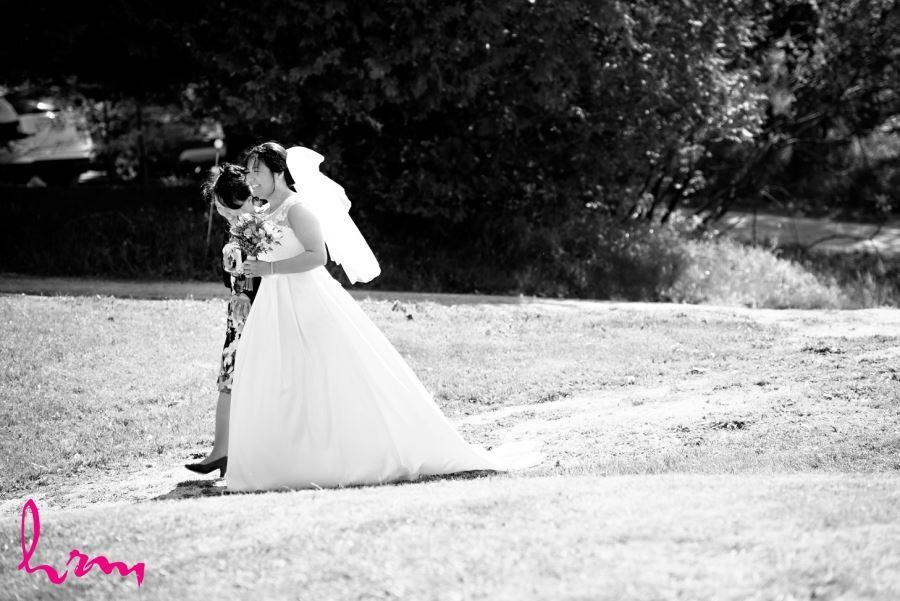 outdoor wedding ceremony collingwood ontario