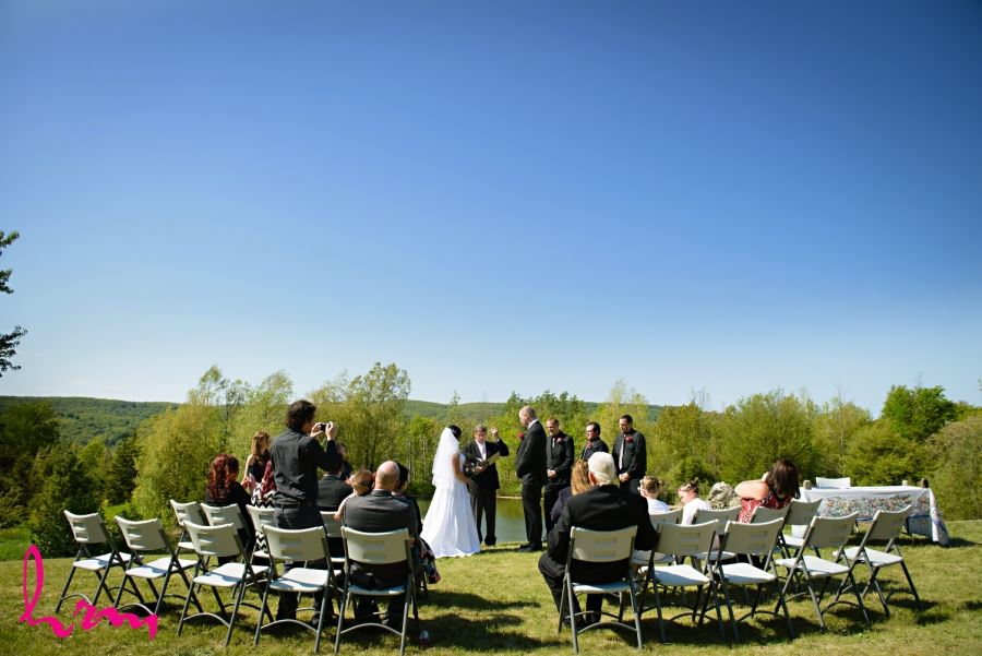 pretty river valley country inn wedding ceremony collingwood