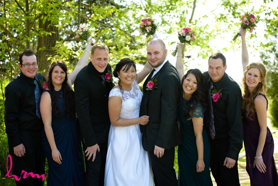 collingwood ontario wedding photography bridal party shot