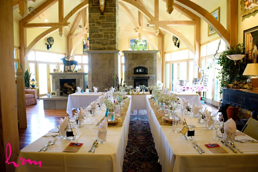 pretty river valley country inn wedding reception