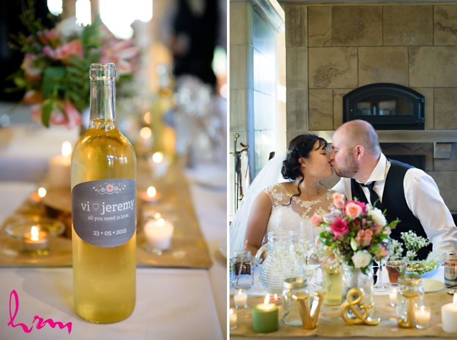 personalized wine labels wedding day