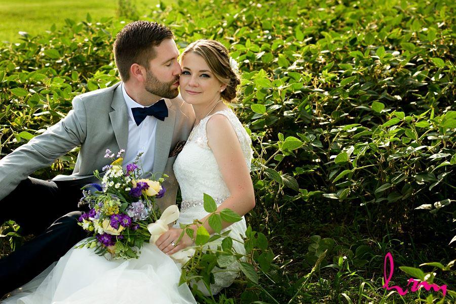 Wedding photo of Claude and Jason