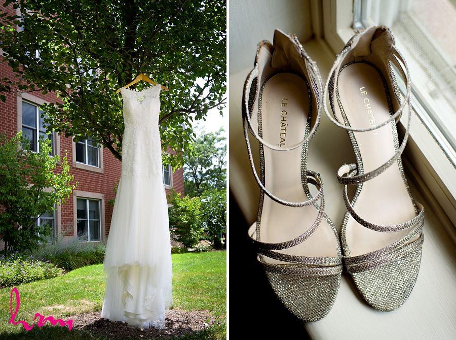 Wedding dress in tree taken by London Ontario Wedding Photographer