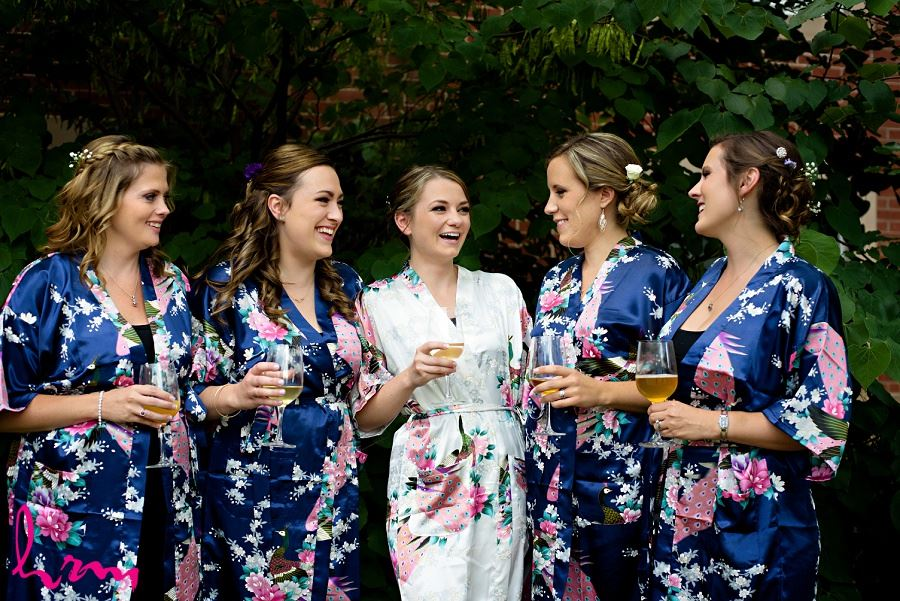 Claude with Bridesmaids taken by London Ontario wedding photographer