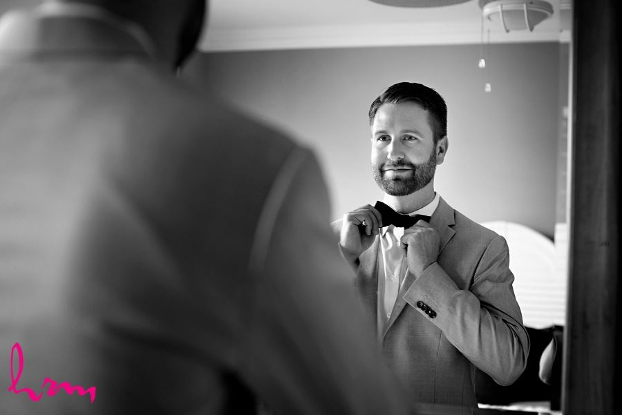 Black and white photo of Jason preparing taken by HRM Photography