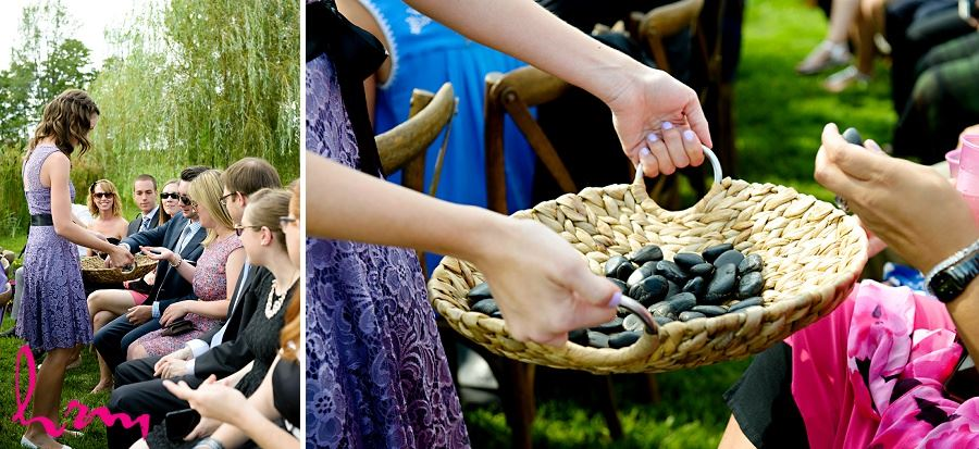 Collecting stones photo taken by HRM Photography London Ontario Wedding photographer