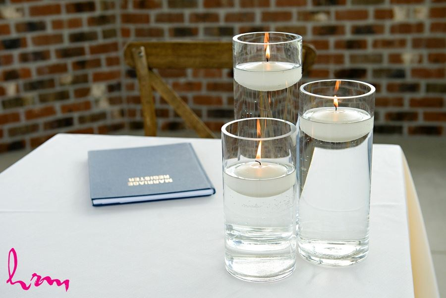 Photo of candles taken by HRM Photography London Ontario Wedding photographer
