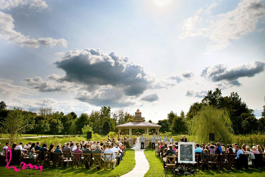 Photo of outdoor wedding taken by London Ontario Wedding Photographer