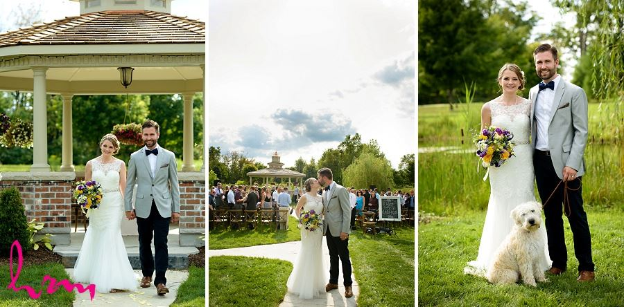 Bride and groom walking by HRM Photography London Ontario Wedding Photographer