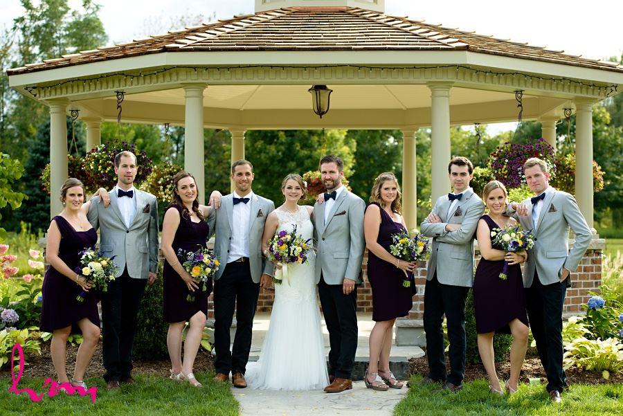 Photo of wedding party by London Ontario Wedding Photographer