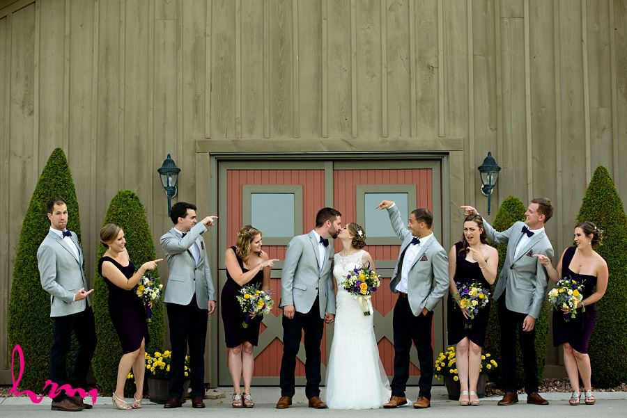 Photo of wedding party by HRM Photography London Ontario Wedding Photographer