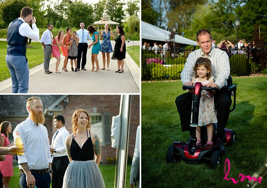 Photo of wedding guests taken by HRM Photography London Ontario Wedding Photographer