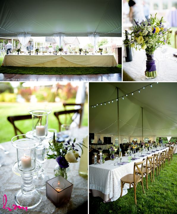Photo of dinner tables by HRM Photography London Ontario Wedding Photographer