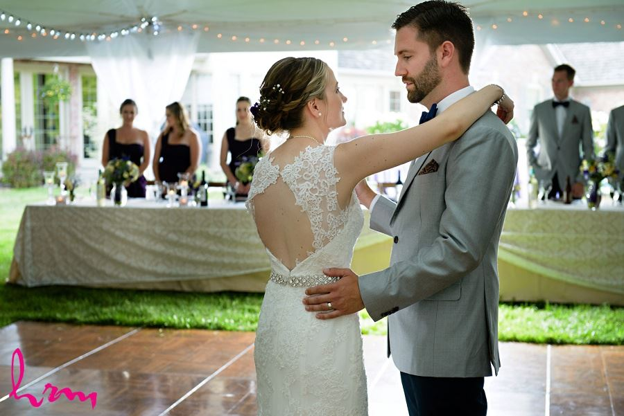Photo of Claude and Jason's first dance taken by HRM Photography London Ontario Wedding Photographer