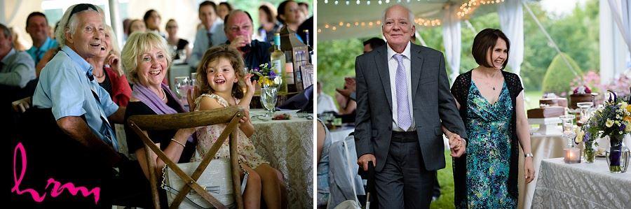 Photos of wedding guests enjoying dinner taken by London Ontario wedding photographer