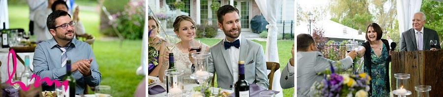 Photos of dinner toasts taken by London Ontario wedding photographer