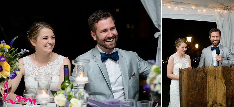 Bride and groom speech taken by London Ontario wedding photographer