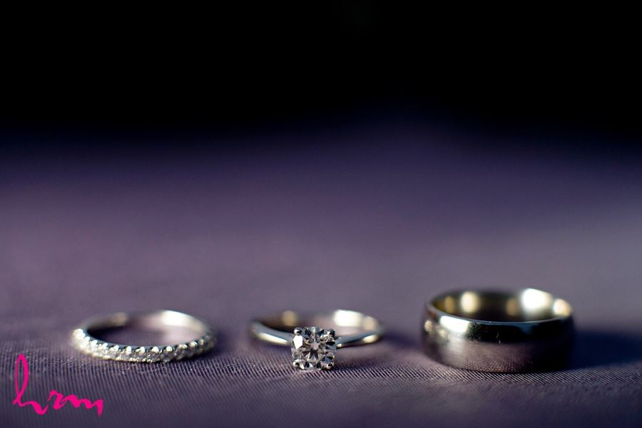 Photo of wedding bands taken by HRM Photography London Ontario wedding photographer