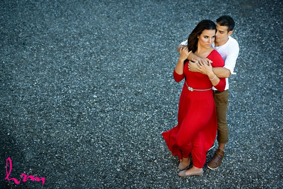 Photo of Jessica and Ahmad taken during London Ontario engagement photography session by HRM Photography