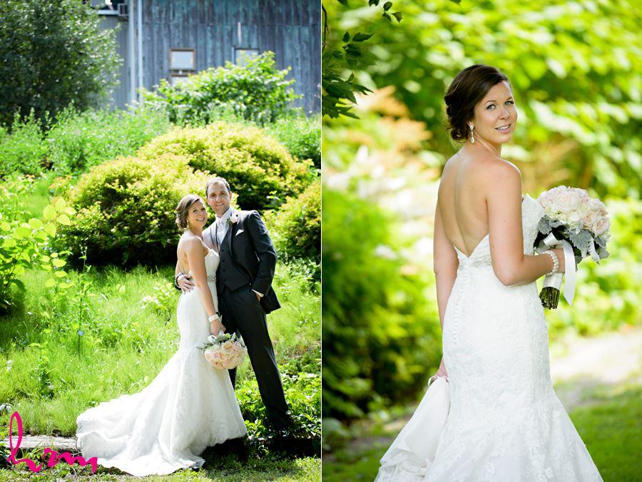 Laura and Matt's wedding photos, taken at the Elmhurst Inn in Ingersoll Ontario