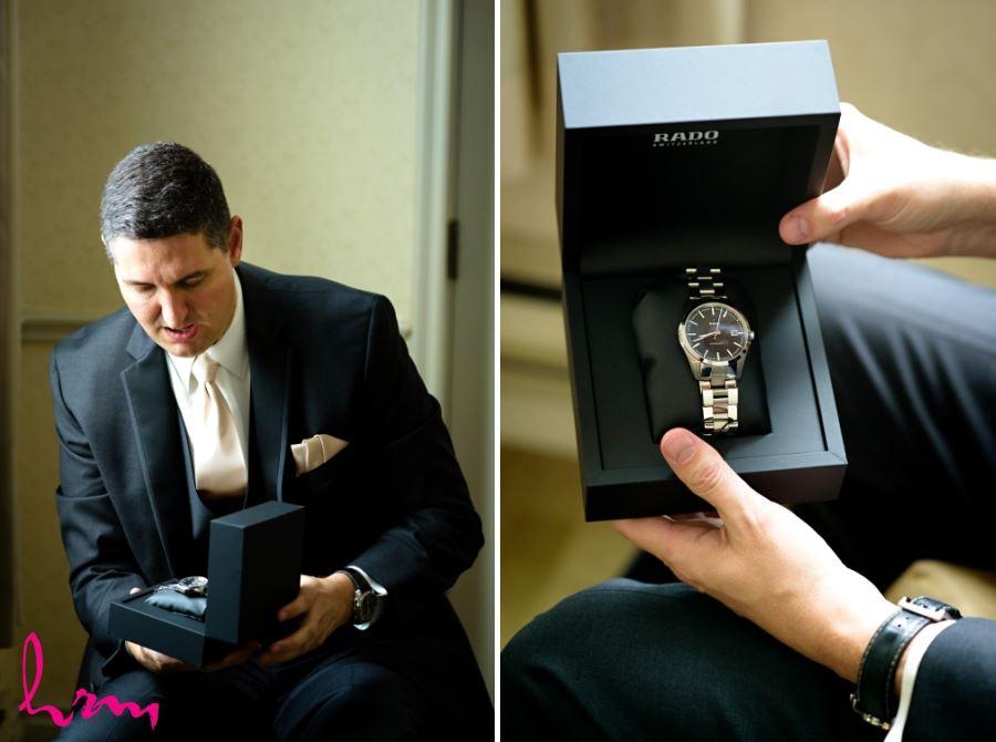 groom wedding gift from bride Rado watch
