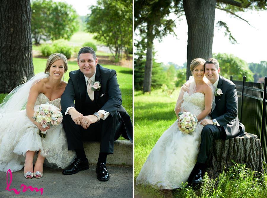 firerock golf club outdoor wedding pictures bride and groom