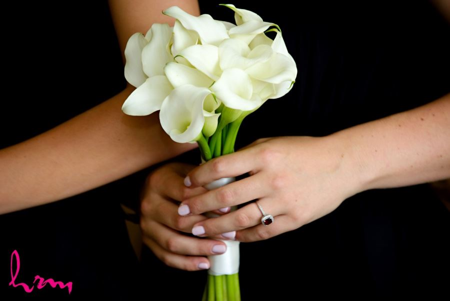 Bridesmaids bouquet white calla lillies